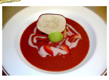 strawberry peach soup